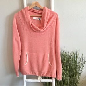 Anthropologie   Sparrow Coral Waffle Knit Cowl Top